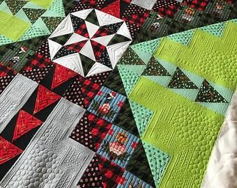 "Tula Pink Fabric Holiday Homies Xmas  2017 Homies Quilt Kit 100% Cotton 60""x60"" Quilt Kit"