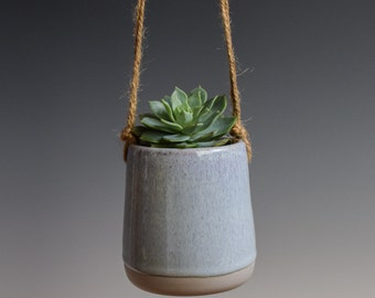Small Hanging Planter, Succulent Planter, Ceramic Planter, Indoor planter, Outdoor Planter,Modern Planter, DIY, comes WITHOUT plant (SP115)