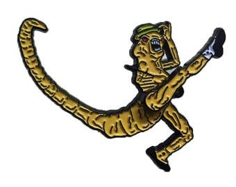 Inked Up Merch & House Of Mysterious Secrets exclusive: Ragtime Alien enamel pin