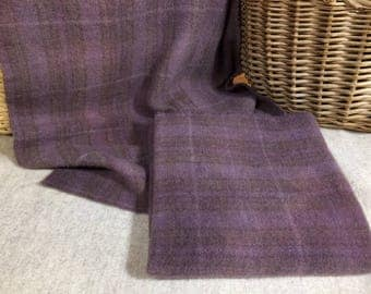 Old Lavender Hand-Dyed Wool Fabric for Rug Hooking, Applique, Penny Rugs, Fiber Arts, One Fat Quarter Yard  W271