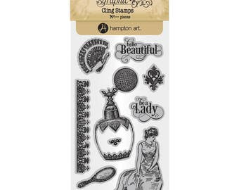 Graphic 45 PORTRAIT of a LADY 2 Cling Stamps IC0381S 1.cc55