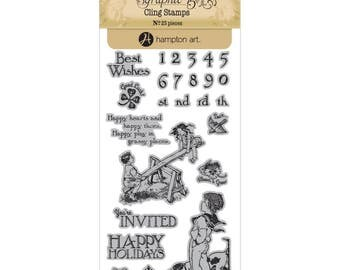 Graphic 45 CHILDREN'S HOUR 3 Cling Stamps IC0352S 1.cc72