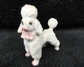 MID-CENTURY POODLE - Spaghetti Curl Poodle - Made in Japan Figurine  -  Poodle Statue