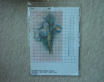 Lindum Studio Cross Stitch Chart       Iris