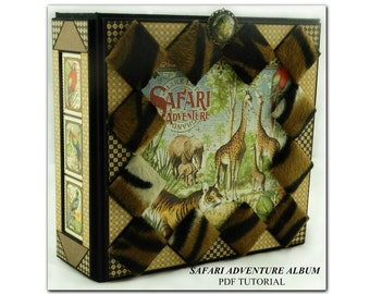 Safari Adventure Mini Album PDF Tutorial, Graphic 45