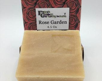 Rose Garden Goatmilk Soap, Shea butter soap, Handcrafted Soap, non-GMO soap, All Natural Soap,