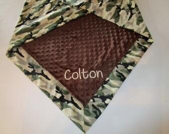 Baby Camo Blanket,Baby Boy Blanket,Newborn Baby Blanket,Baby Minky Blanket, Personalized Baby Blanket,Custom Baby Blanket