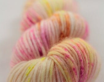 Hand-dyed yarn - superwash merino - dyed-to-order - single DK - speckles -LAINE