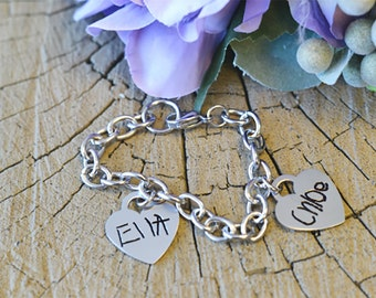 Custom Handwriting Stainless Steel Bracelet- Signature Jewelry- Memorial Jewelry- Personalized