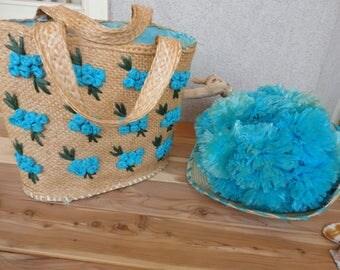 Straw Hat & Purse Set