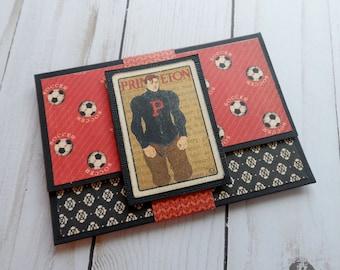 Masculine Gift Card Holder -- Mans Money Holder -- Masculine Card -- Masculine Money Holder