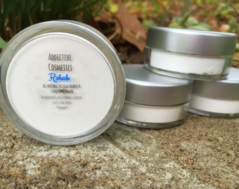 REHAB All Natural Makeup Primer, Setting Powder and Oily Skin/Acne Mask. Vegan Friendly.
