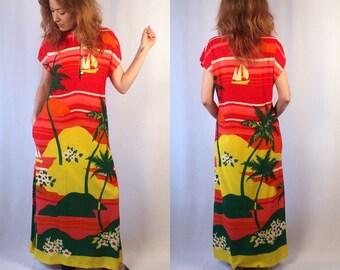 Vintage Hawaiian Maxi dress
