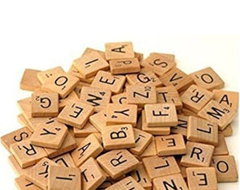 Scrabble Tiles 100 Pieces Wooden Scrabble Tiles Real Wood Great To Make DIY Jewelry Findings Earrings Necklaces Bracelet With Scrabble Tile