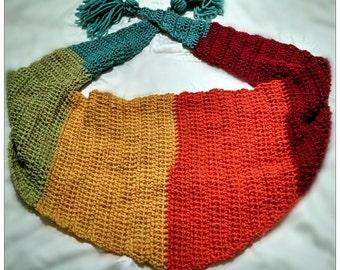 Handmade rainbow pride crochet bandana scarf
