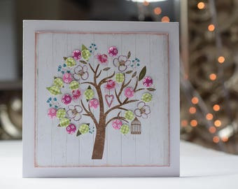 Handmade Blank Card, Papercrafted Notelet Card, All Occasions, Tree, Get Well, Leaving Card, Thinking Of You, Just because, Belated Birthday