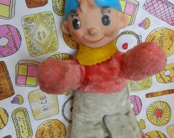 Vintage Noddy Semco Rubber Face Plush Toy