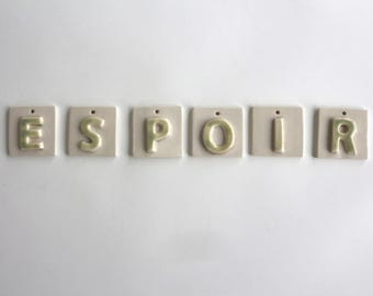 Ceramic lettering, typography, hand fainting