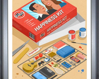 Happiness kit, signed limited edition print