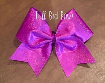Cheer Bow - Hot Pink Glitter