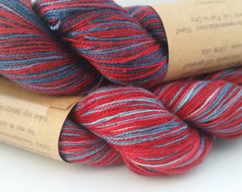 Rock Candy - hand painted lace weight silk yarn