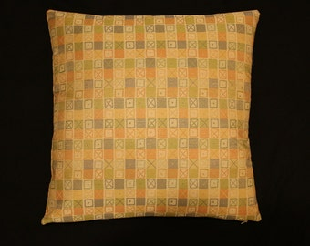 "Charles & Ray Eames ""Crosspatch"" 003 Spring - Maharam - Mid-Century modern decorative accent Pillow -  17"" X 17"""
