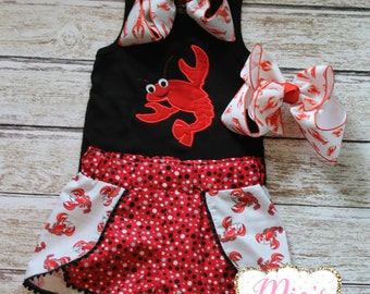 Crawfish Shirt, Crawfish embroidery Shirt, Toddler Crawfish shirt