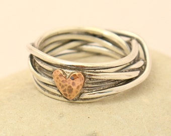 Silver /Gold/ Rose Gold Ring - Anniversary Gift - Gift for her - Sterling Silver/ Copper/ Brass Ring - Love Ring- Best gift - Couples ring