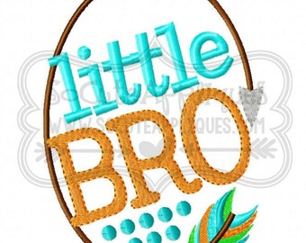 Little Bro!! Embroidered Shirt, Bodysuit, Burp Cloth, Dish Towel and more!