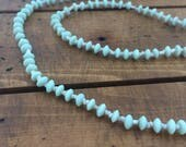 Vintage Milk Glass and Seed Bead Necklace