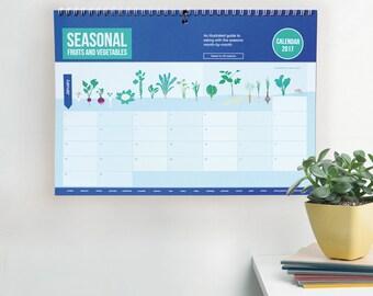 Seasonal Vegetable Food Calendar 2017