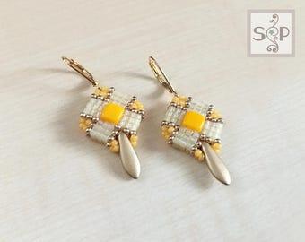 """MaterialKIT  earrings """"True Turn""""  gelb/orange"""