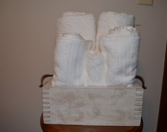 Handmade Vanity Towel Holder or Dresser Box