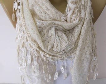 Beige Scarf-Fashion Shawls-Trend Scarf ,gift Ideas For Her Women's Scarves- gift- for her -Fashion accessories