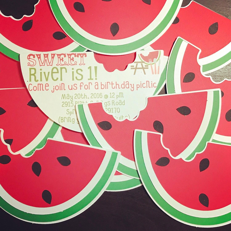 wassermelone-einladung wassermelone geburtstag einladen, Einladung