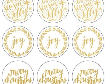 Lucky Dip Foil Stickers - Merry Christmas, Joy, Tis The Season