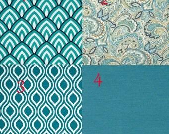 Designer dog bed cover, dog bed slipcover, teal colors