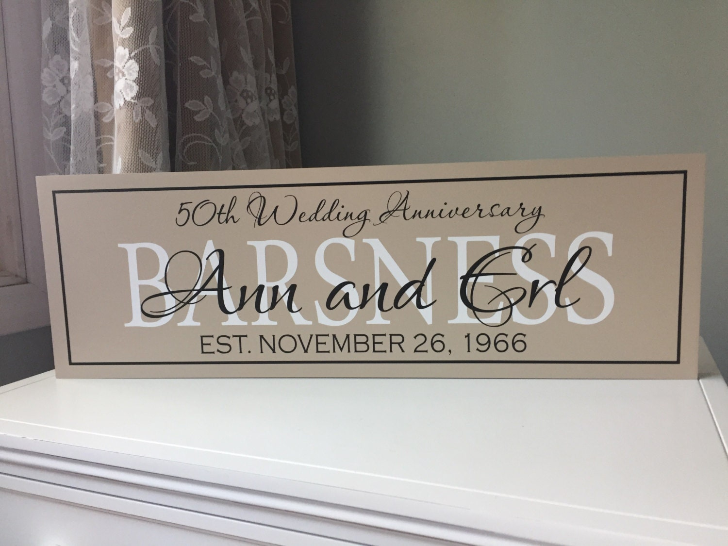 Fiftieth Wedding Anniversary Gifts: 50th Wedding Anniversary Gift Anniversary Gift For Parents