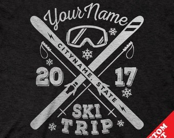 Custom Snow Skiing Trip Shirts 2017