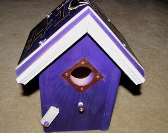Baltimore Ravens - NFL License Plate Birdhouse - Team bird house - Ravens - Housewarming Gift