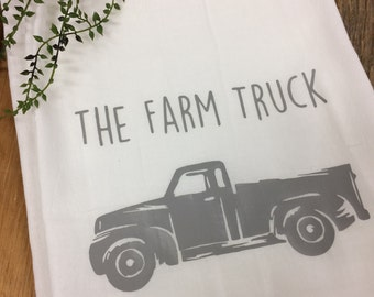 The Farm Truck Tea Towel
