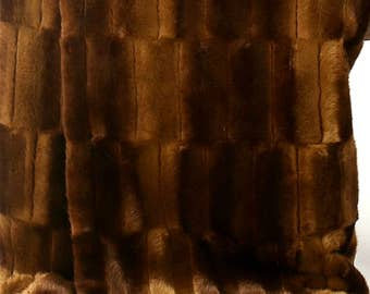 Luxury Faux Fur Fabric  Brown Patch Beaver - Chinchilla  Pelt Shaggy Fun Fur Baby Photography Prop, Craft, Sewing, Supplies