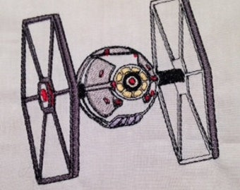 Star Wars Tie Fighter Machine Embroidery Design