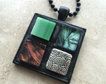 Fire and Water pendant necklace