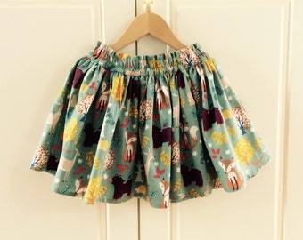 Forest gathered skirt