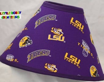 NCAA LSU Louisiana State University Fabric Lamp Shade  (10 Sizes to Choose From!)