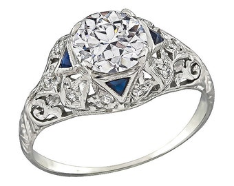Vintage GIA Certified 1.10ct Diamond Engagement Ring