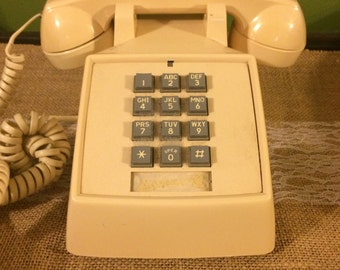 Retro GTE Push Button Phone/ Vintage Push Button Phone