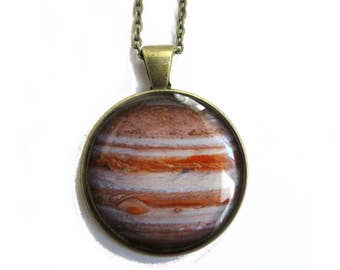 JUPITER NECKLACE - Space Jewelry - Solar System jewelry - Planet necklace - Galaxy