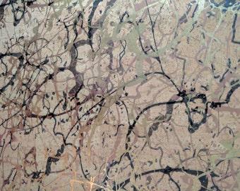 Natural Cork Fabric - Pollock Metallic